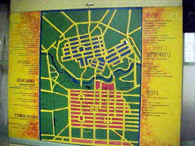 The city map of Adelaide at the hostel.