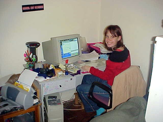 If she is not doing homework or with her boyfriend Daniel, she can be found behind her computer, ready for chats with people from all over the world, especially Holland...