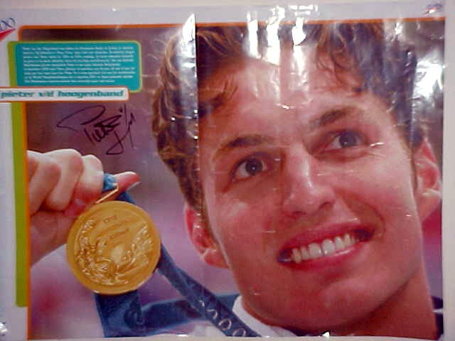 Pieter van den Hoogenband won the gold medal for swimming on the latest Olympic Games. Australian Ian Thorpe became second. And guess what, Pieter stole the heart of Alexandra.