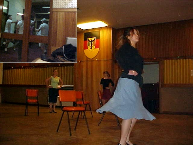 After dinner I join along with the family as Alexandra had to go to her weekly German folkdancing class!