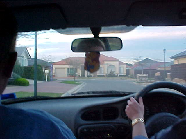 After picking up her partner Steven, Tiffany drives us to their home in Oakden, home of the new and spacey homes.