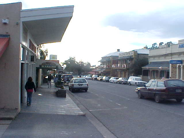 Willunga village main street.