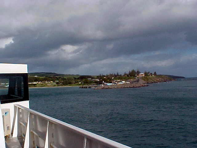 Approaching the port at Pennyshaw.