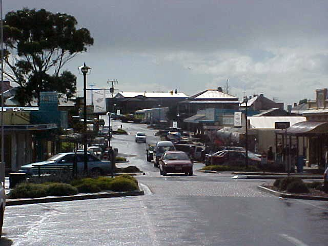 Kingscote, no shopping mall, just this main street (with one-way traffic though).