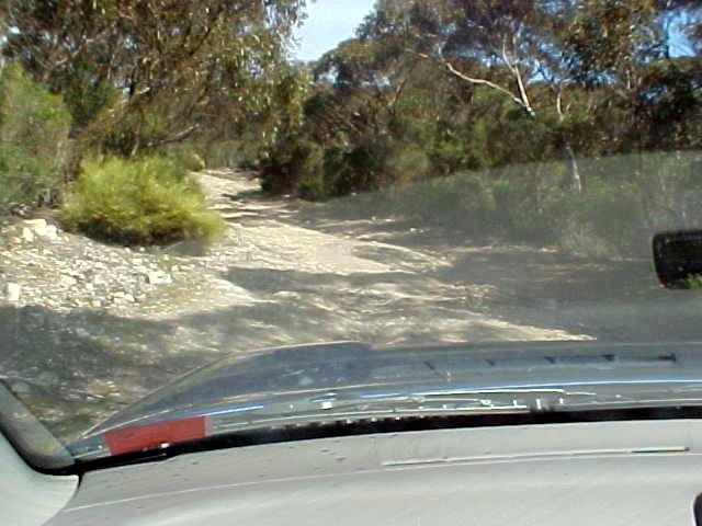 On the dirt tracks to the Little Sahara desert.
