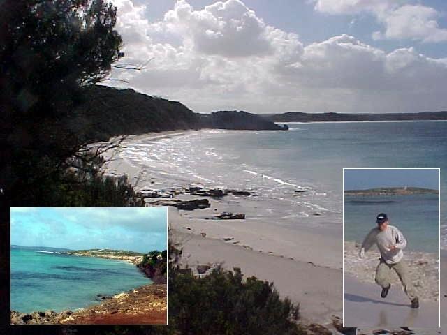 Vivonne Beach, indeed a wonderful beach, where the ocean tried to grab me.