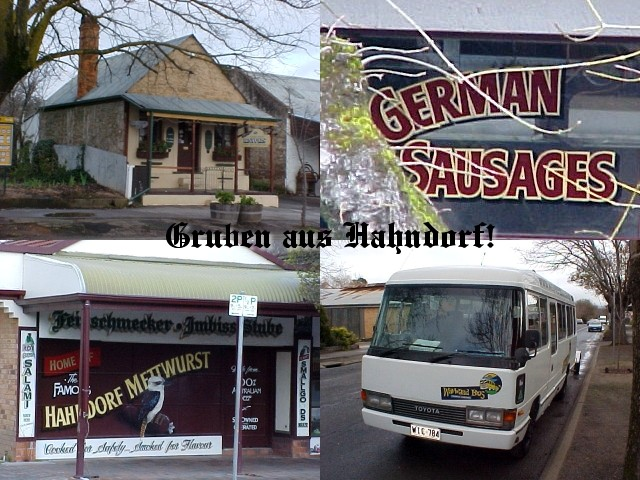The first stop on the road with the Wayward Bus was in the original German settlement Hahndorf, just around the corner of Gus place in Littlehampton.