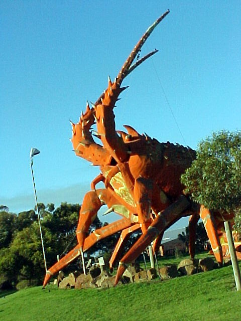 Meet Larry the Lobster! Guess what the main industry could be in this town?