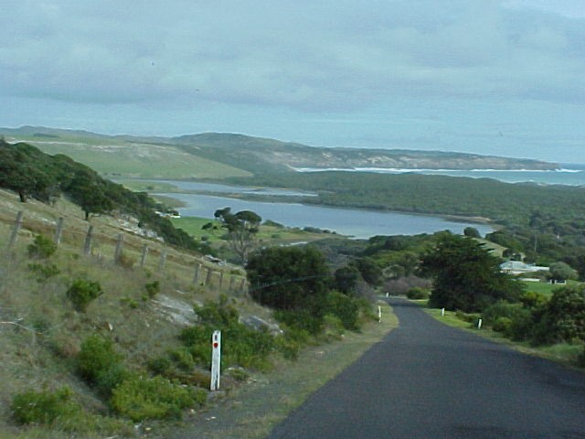 And it was like Victoria was indeed something different. Look at this, my view when we drove down the hill to the Cape Bridgewater Bay...