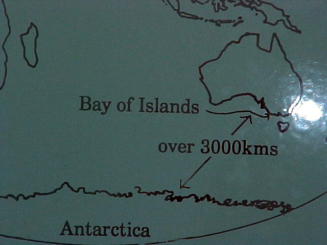 You see, I am not that far from Antarctica at all!