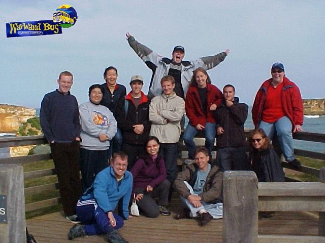 The Gang on the Wayward Bus at the Bay of Islands.