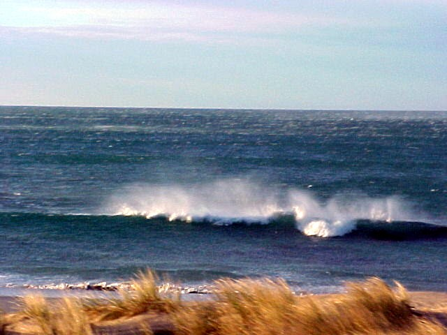 And at the coast along the Great Ocean Road the wind was that hard that the waves were