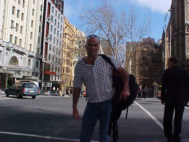 Just after noon I met up with David, who voluntarily carried my backpack around!