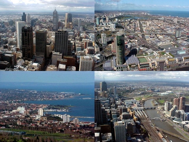 Top-right and bottom-left: St. Kilda suburb.