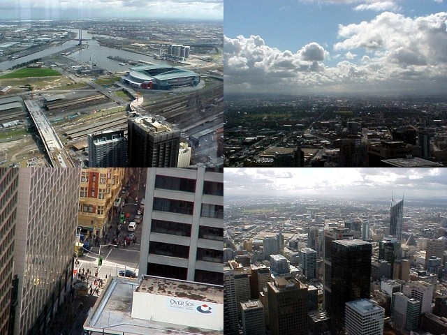 The people down there look small, however Melbourne itself looked BIG from up here.