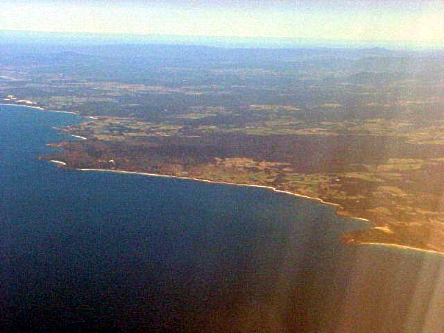My first view of Tasmania.