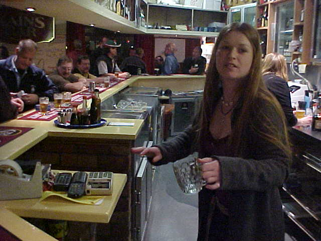 Next to working at a florist, Heidi also works behind this bar. Not today though, she was just helping out.