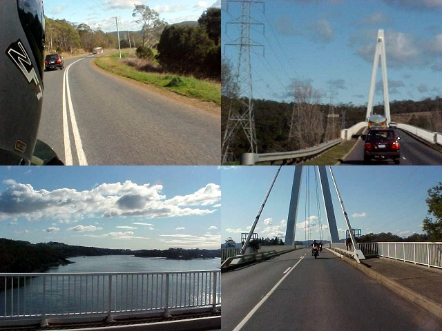 Crossing the Tamar River over the Tamar Bridge.