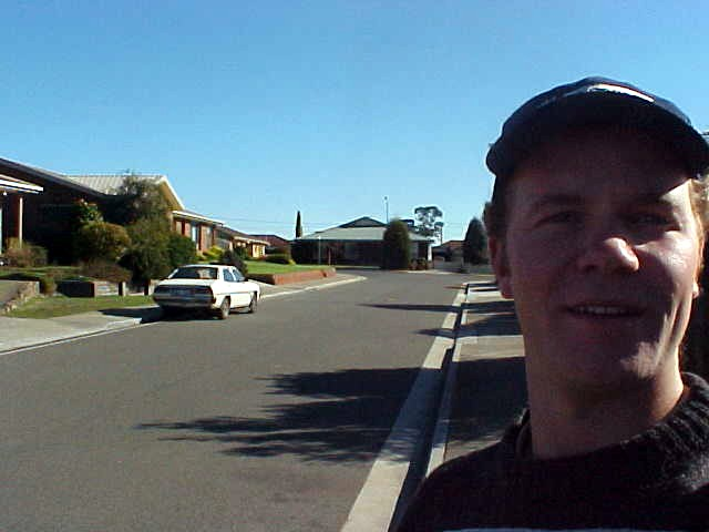 Me in a typical Australian street....