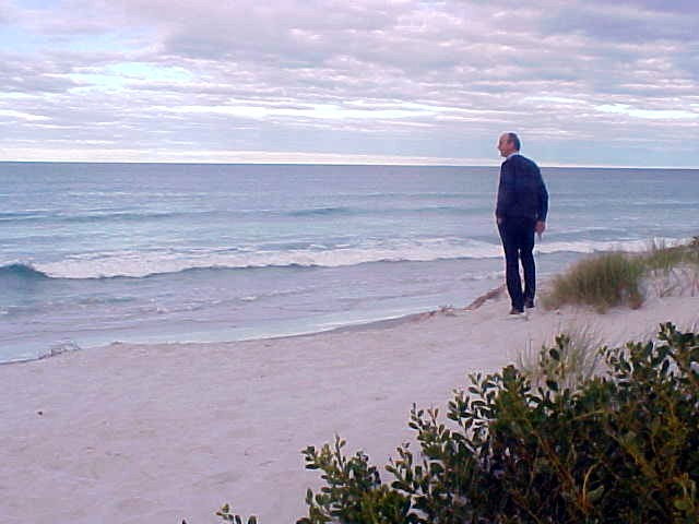 Meet John, who took me along for a lift to Bicheno, where I just HAD to see this long stretched beach.