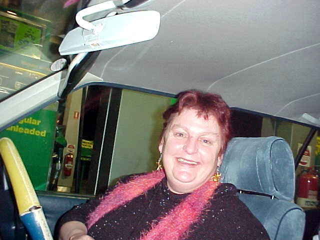 Vickie Curtis picked me up at the Hobart Airport.