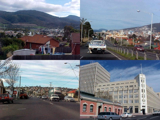 Leaving the suburb West-Moonah, in exhange for the city centre of Hobart.
