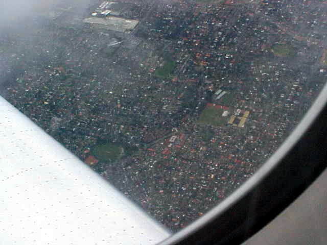 The first Melbourne (southeast) suburbs from above.