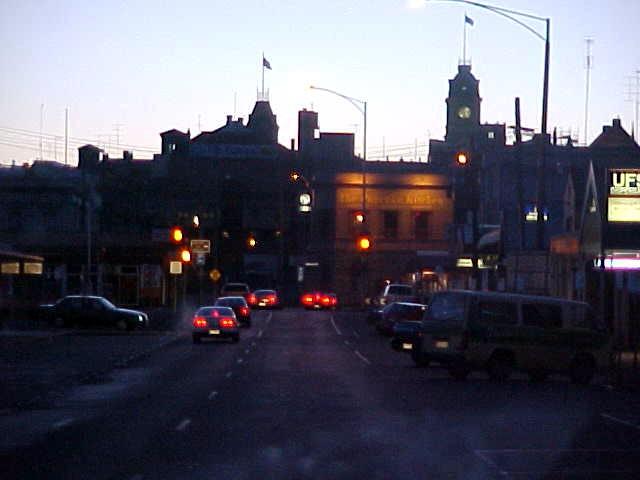 Arriving in historical Ballarat.