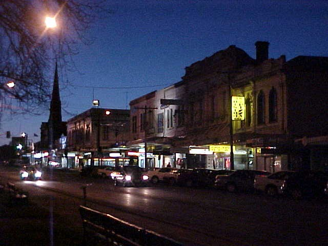 Ballarat main street after 6pm.