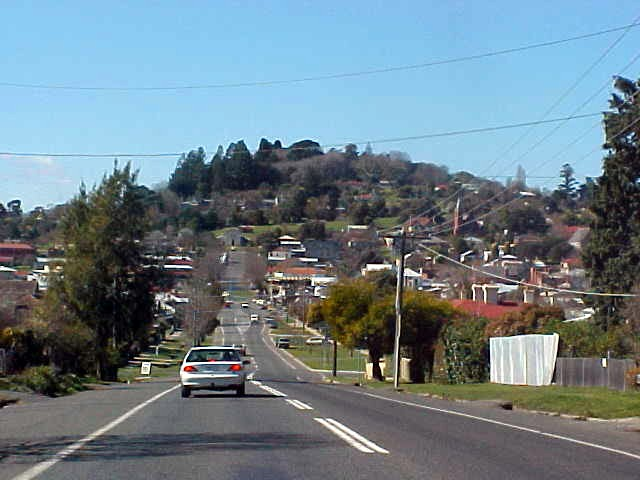 Entering Daylesford, a pleasant historic town famed for its mineral waters