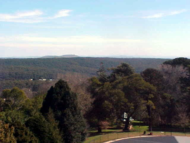 The scenery of Daylesford farmland as seen from a tower lookout. (2)