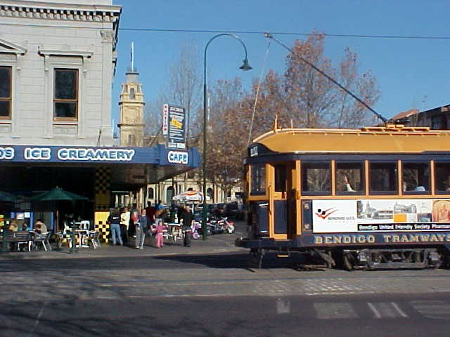 How sweet! There is a tram in town!