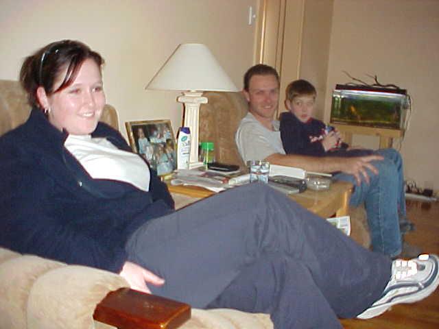 Meet todays hosts in Bendigo: Lauren and Craig Keller and his son.
