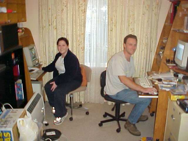 She calls him an internet addict, so they both needed a computer and have it all wired together again. Um, who was the addict? ;-)