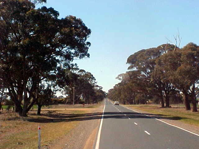 Shots from a car as I hitchhiked my way east to Benalla.