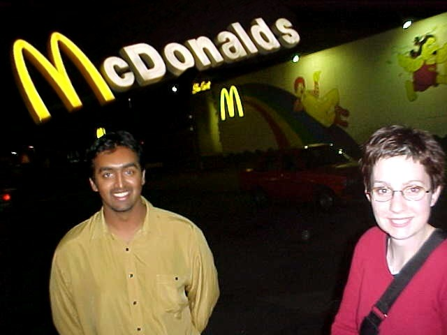 Picking up Jessicas boyfriend Rohid from the McDonalds where he works.