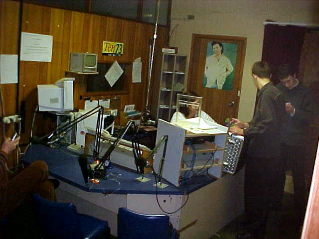 Later this evening, around 10pm, David and his buddies take me along to the local Border FM radio studio, where they do their requestshow!