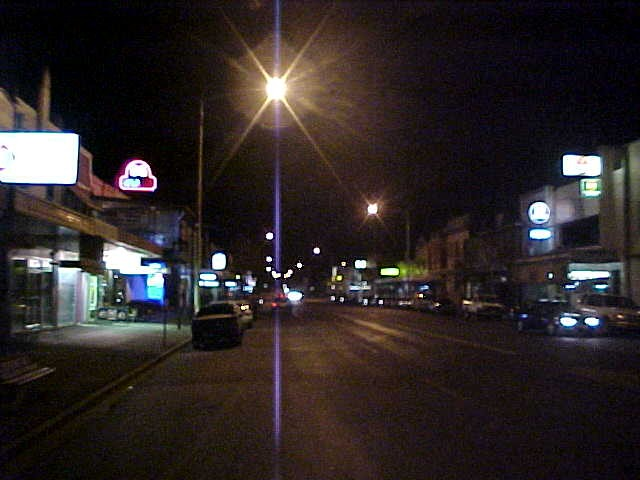 An almost empty main street of Wagga Wagga.