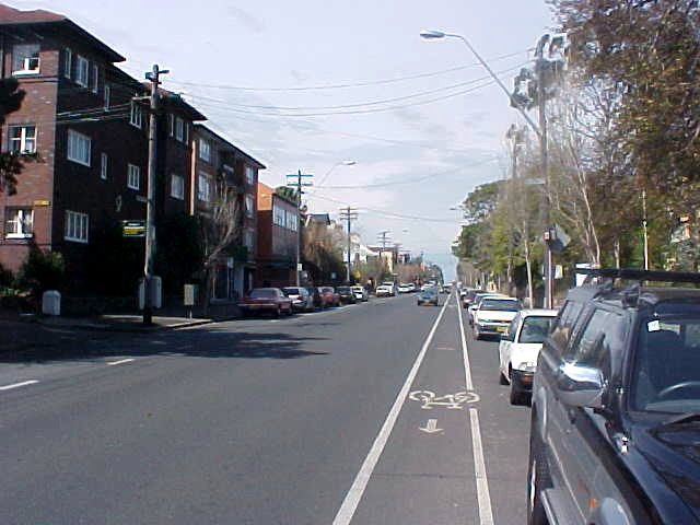 The street in front of the hostel, Glebe Road, leading all the way to the centre from here.