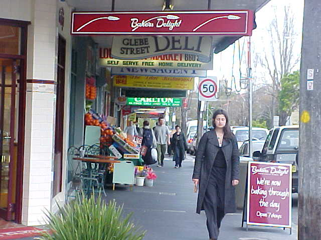 A commercial part of Glebe Street.