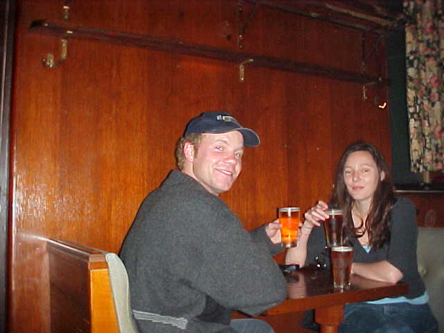 And Bronwyn and me ended up in this pub down her street, also known as the Hollywood Cafe, as many movies have been filmed here. Cheers!