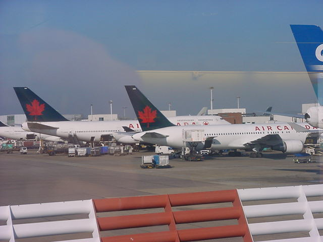 At London Heathrow Airport I had to wait a few hours, before boarding this B747 to Canada!