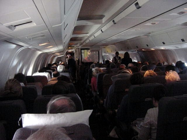 However it was light outside during the entire flight, it was easy to get a few hours of necessary sleep.