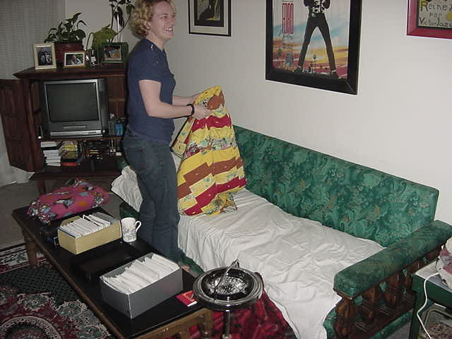 Then it is got time when Peggy prepared my bed for the night...