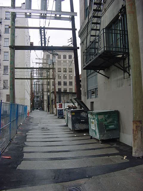 A back alley in Vancouver...
