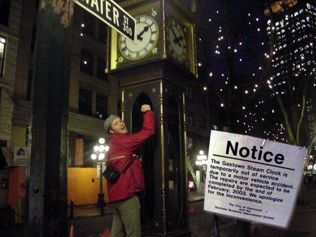 The Gastown Steam Clock is the first clock in the world to work on steam... exept this month...