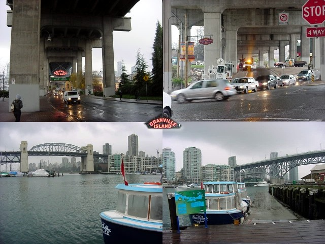 Emma took me along to Granville Island, a small peninsula connected to downtown Vancouver with a bridge. At Granville are many art-related shops, children s plays and a public market. Granville home to approximately 275 businesses!
