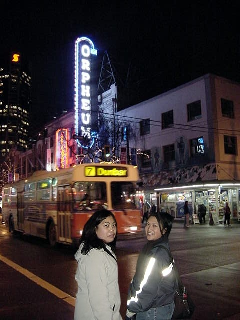 Later this evening Gails friend May joined us and we had a walk through town. Granville Street is always brightly lit.