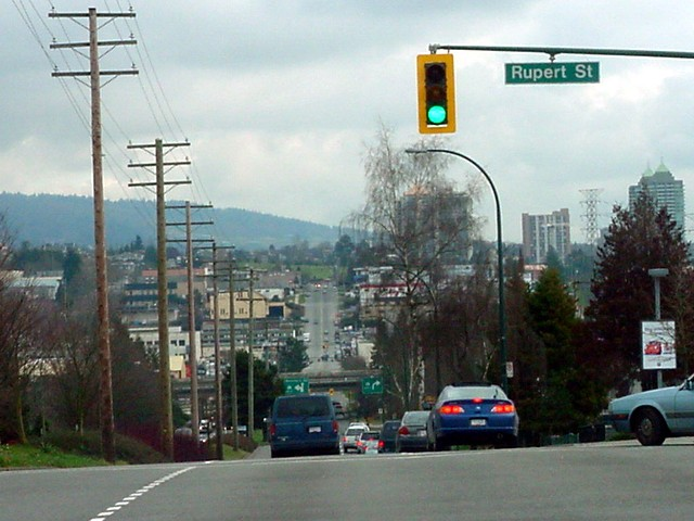This morning I had to go to Burnaby, a city east of Vancouver...