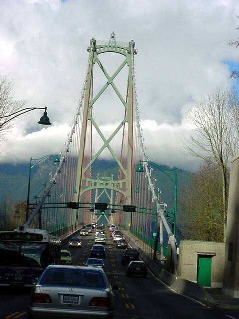 This same afternoon Gail took me for a car tour around Vancouver. Here we cross the Lions Gate Bridge on our way to the cities West Vancouver and North Vancouver.